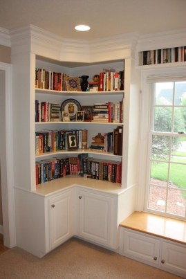 Wooden cabinet design ideas for book diy that you can make in your home 29