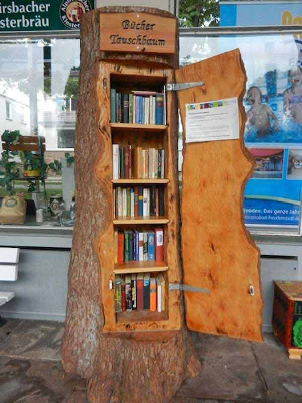 Wooden cabinet design ideas for book diy that you can make in your home 38