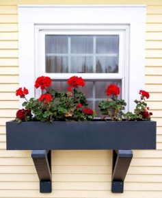 Exterior decoration ideas with flower in window 01