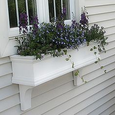 Exterior decoration ideas with flower in window 05