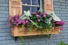 Exterior decoration ideas with flower in window 08