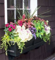 Exterior decoration ideas with flower in window 22