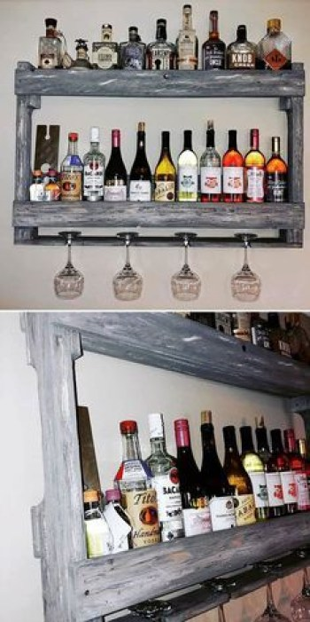 Inspiring pallet mini bar design ideas 02
