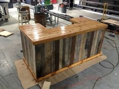 Inspiring pallet mini bar design ideas 09
