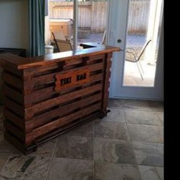 Inspiring pallet mini bar design ideas 12