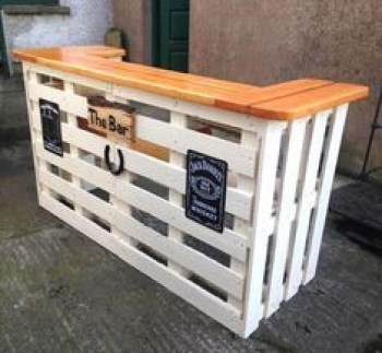 Inspiring pallet mini bar design ideas 35