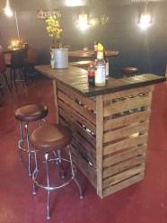 Inspiring pallet mini bar design ideas 41