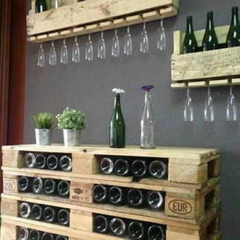 Inspiring pallet mini bar design ideas 46