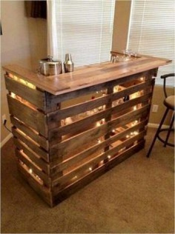 Inspiring pallet mini bar design ideas 49