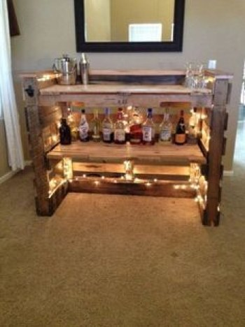 Inspiring pallet mini bar design ideas 52