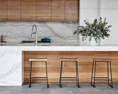 Wood kitchenset design ideas that you can try 24