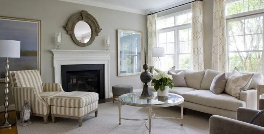 Living room gray wall color design ideas 09