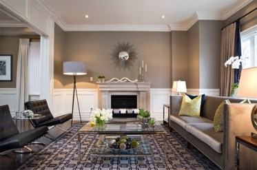 Living room gray wall color design ideas 10