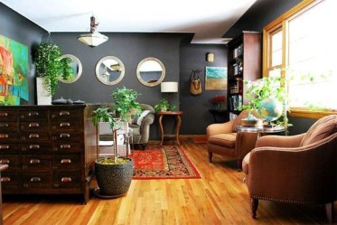 Living room gray wall color design ideas 11