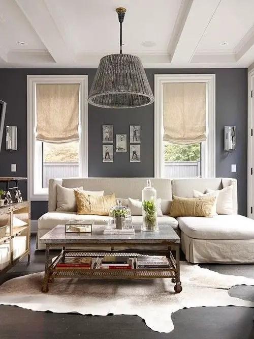 Living room gray wall color design ideas 17