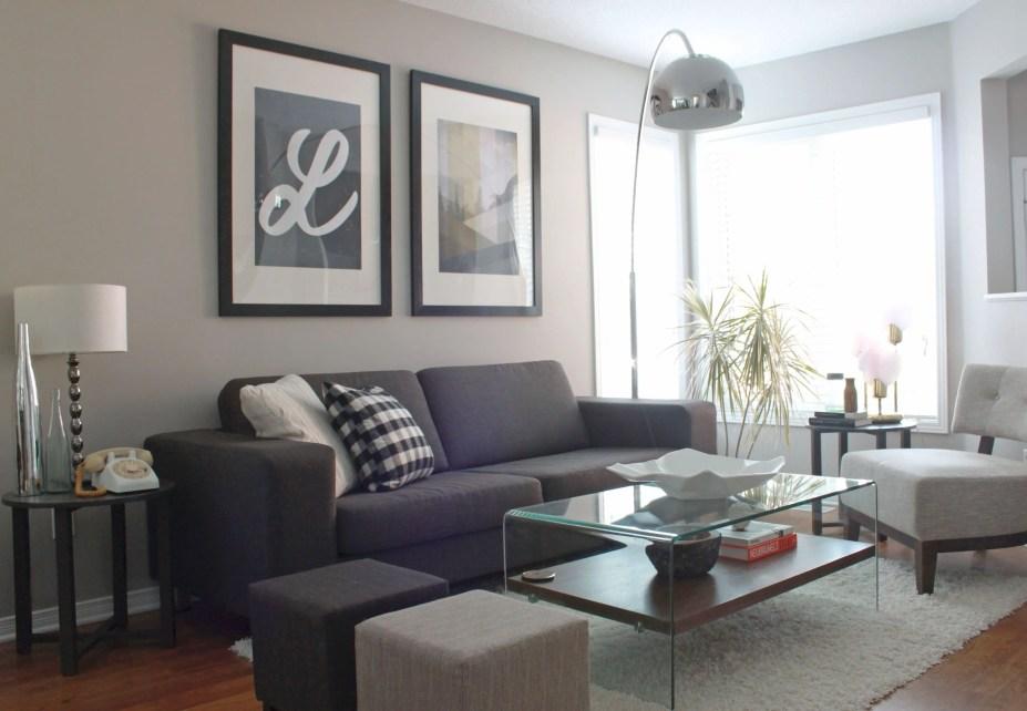 Living room gray wall color design ideas 19