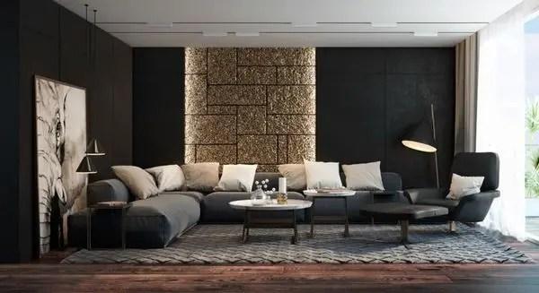 Living room gray wall color design ideas 26