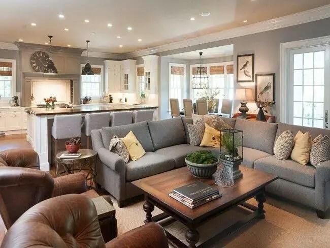 Living room gray wall color design ideas 39