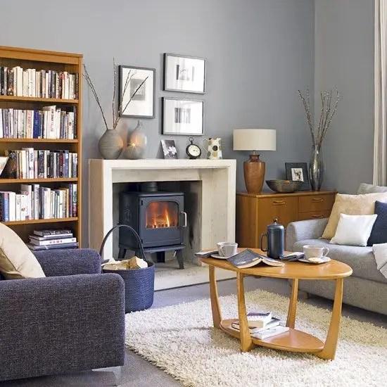 Living room gray wall color design ideas 43
