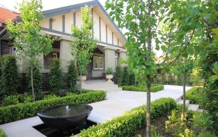 Modern&minimalist frontyard desgin ideas 15
