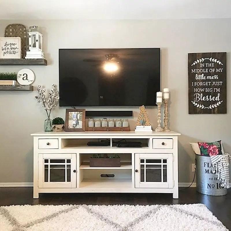 Inspiring living room wall design ideas 24