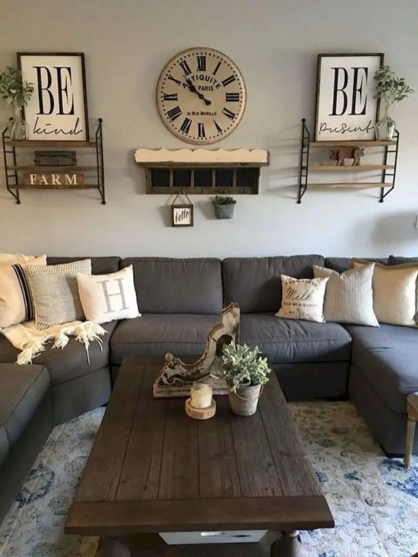 Inspiring living room wall design ideas 38