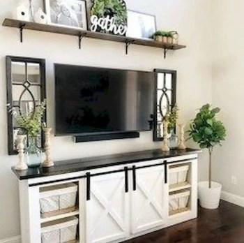Inspiring living room wall design ideas 45