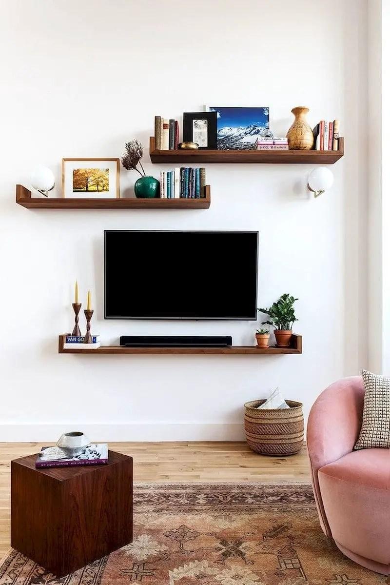 Inspiring living room wall design ideas 51