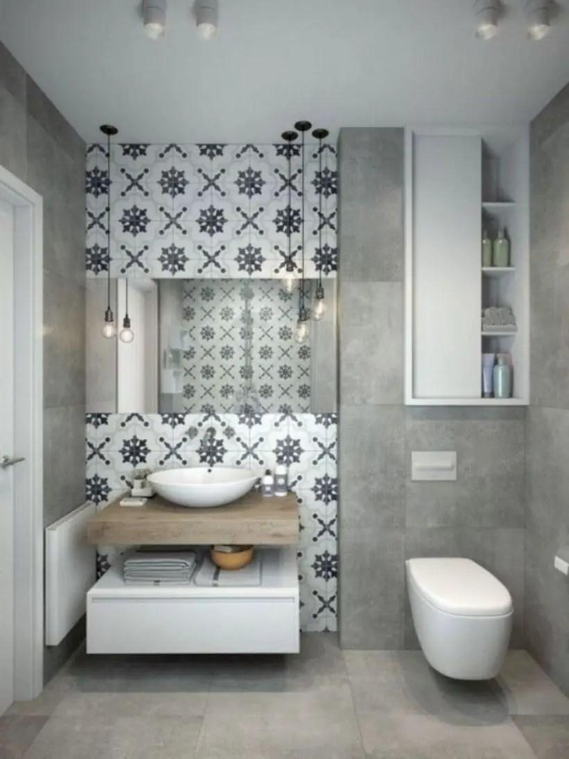 Inspiring small bathroom design ideas in apartment 18
