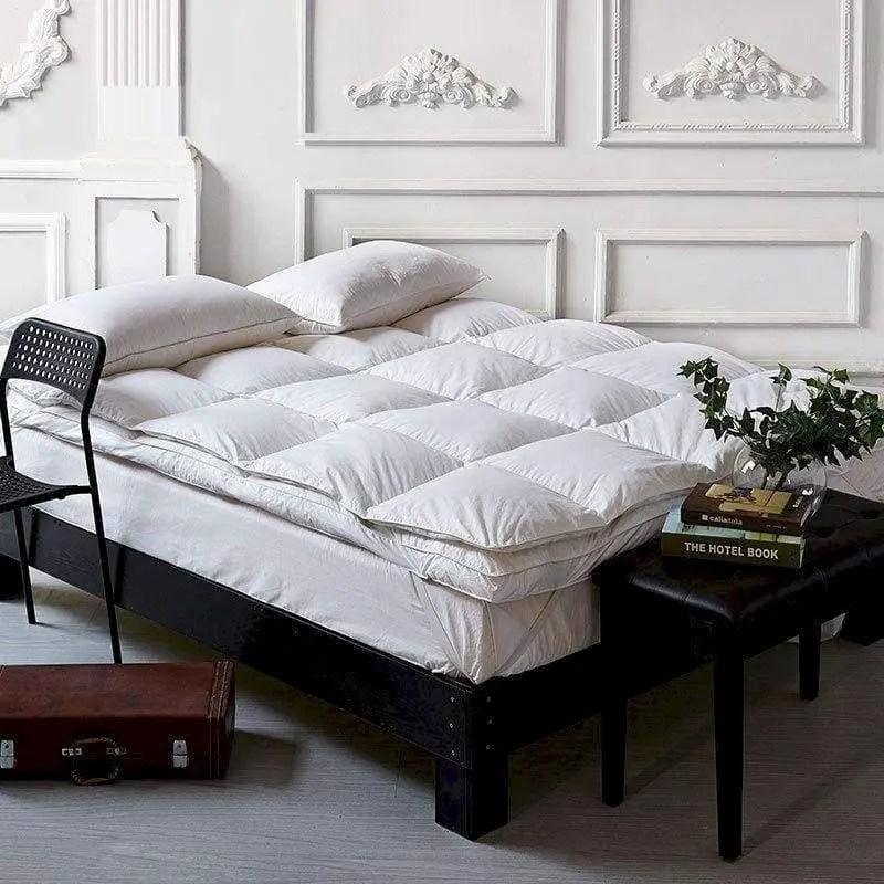 Luxury bedroom design ideas with goose feather 37
