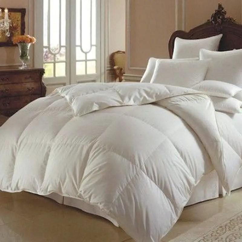 Luxury bedroom design ideas with goose feather 46