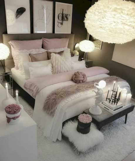 Romantic bedroom decorating ideas in your apartment 14