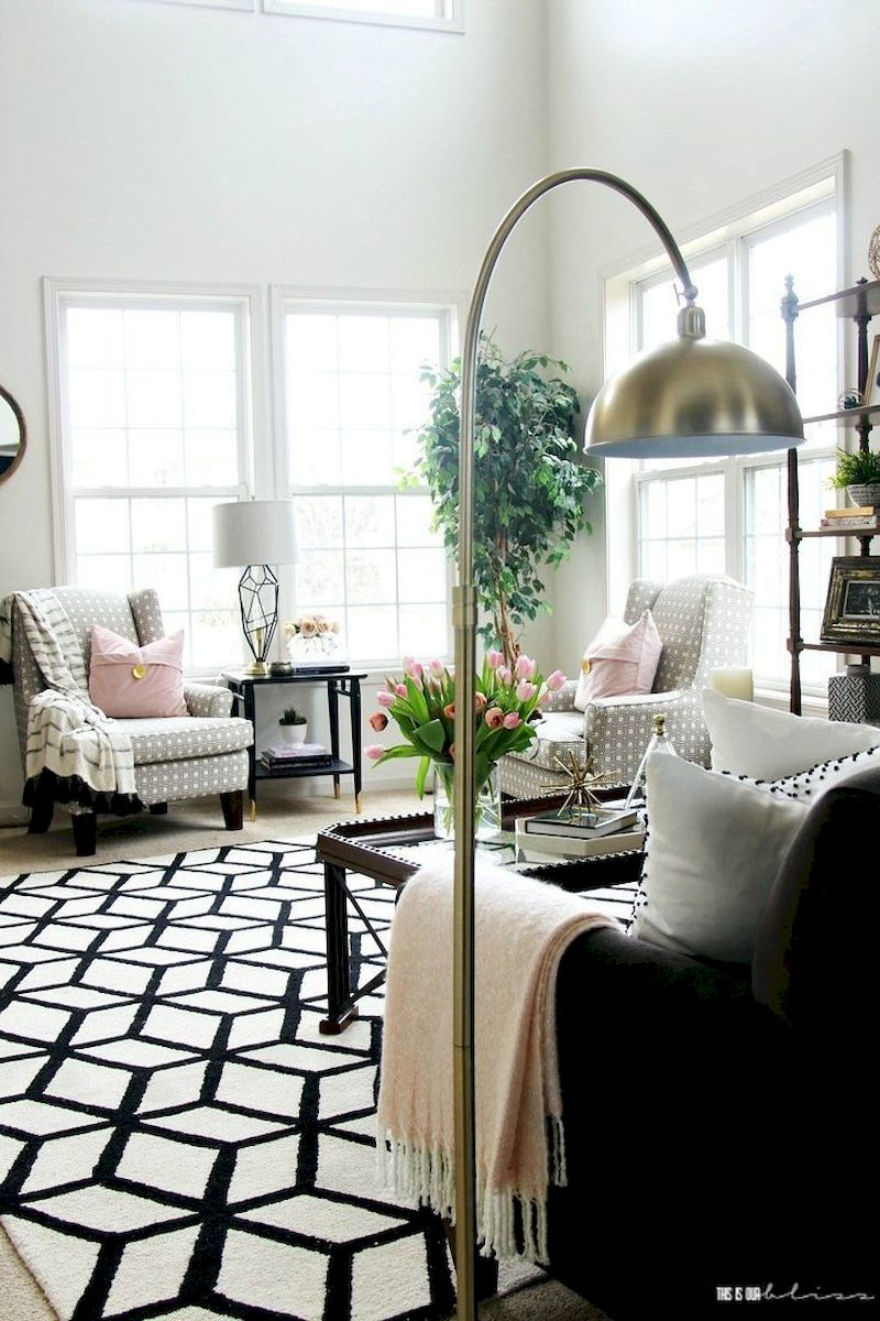 Spring living room design ideas that you can copy right now 26