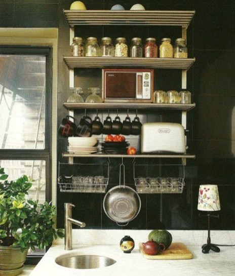 The best kitchen appliance storage rack design ideas 37