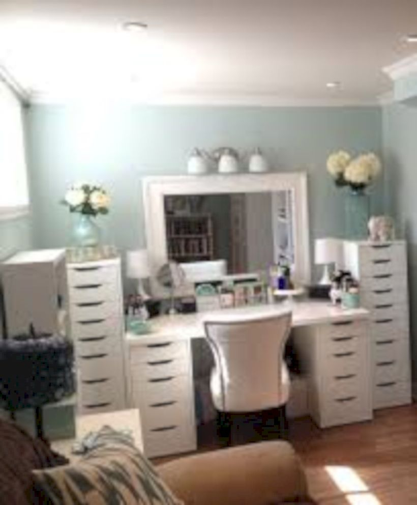 The best makeup table design ideas that you must copy right now 09