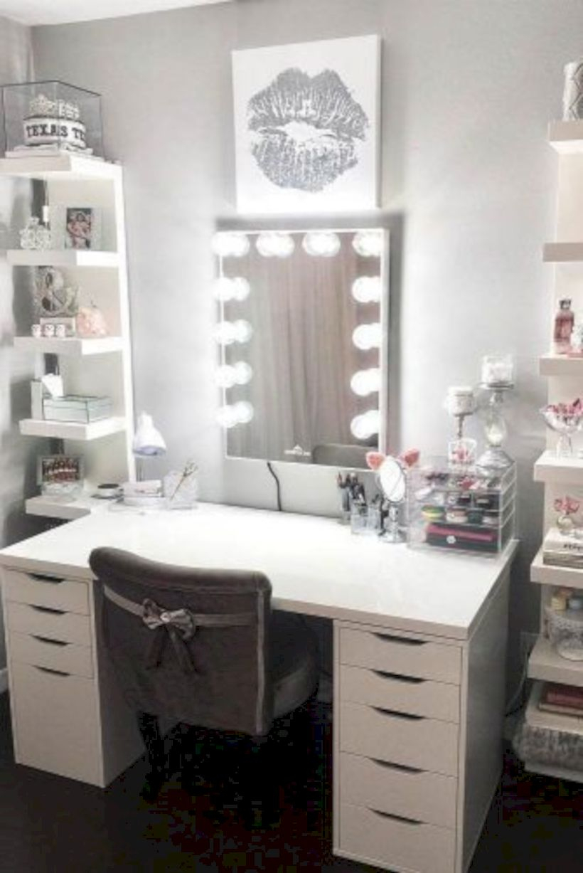 The best makeup table design ideas that you must copy right now 22