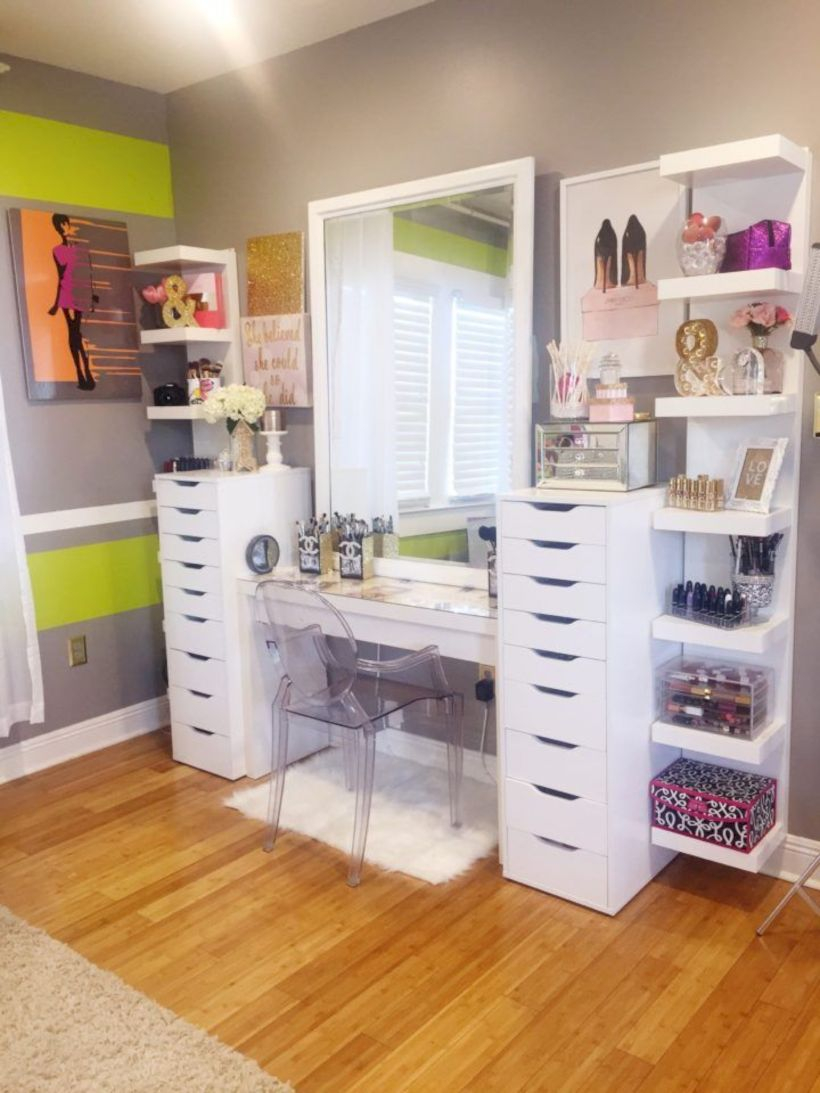 The best makeup table design ideas that you must copy right now 24