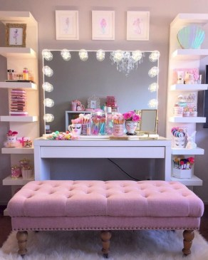 The best makeup table design ideas that you must copy right now 32