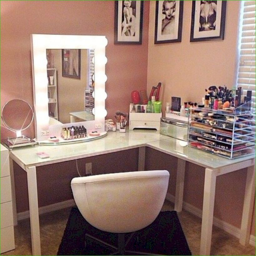 The best makeup table design ideas that you must copy right now 39