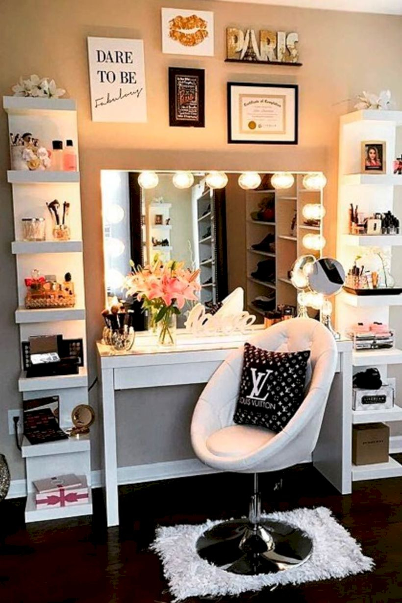 The best makeup table design ideas that you must copy right now 47