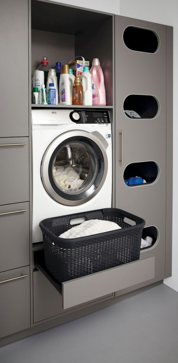 Trend small laundry room design ideas that you can try 16