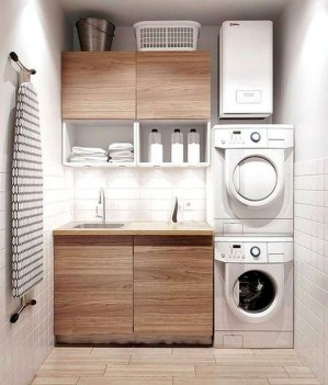Trend small laundry room design ideas that you can try 25