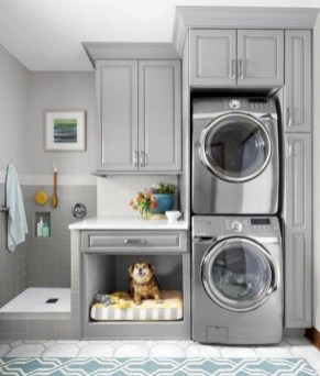 Trend small laundry room design ideas that you can try 27
