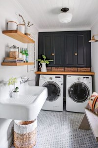 Trend small laundry room design ideas that you can try 31