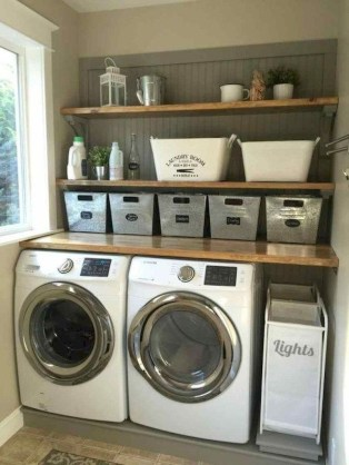 Trend small laundry room design ideas that you can try 45