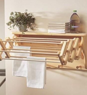 Drying rack design ideas that you can try 23