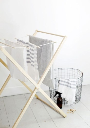 Drying rack design ideas that you can try 41