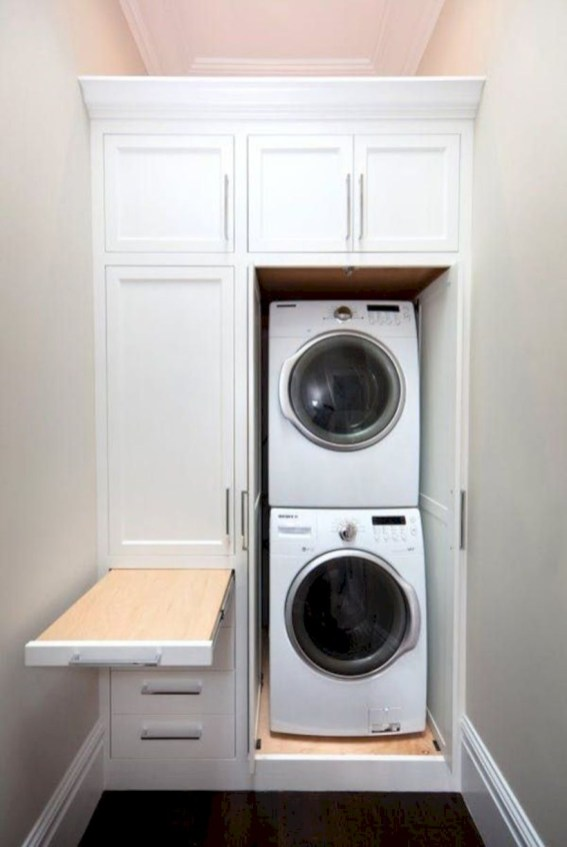Inspiring small laundry room design ideas in spring 2019 47