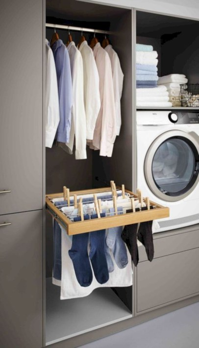 Laundry design ideas with drying room that you must try 30