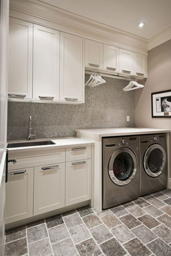 Laundry design ideas with drying room that you must try 48